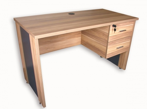 Mode Office Desk With 2 Drawers 1200X600X730H