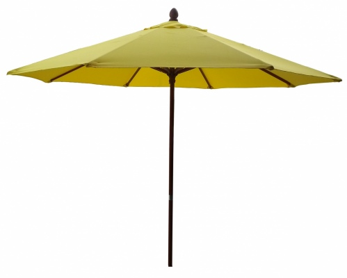 Tuscany Wood Look Outdoor Umbrella Yellow 2.7M Pol