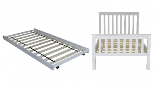 Brodie King Single Slat Bed + Trundle White