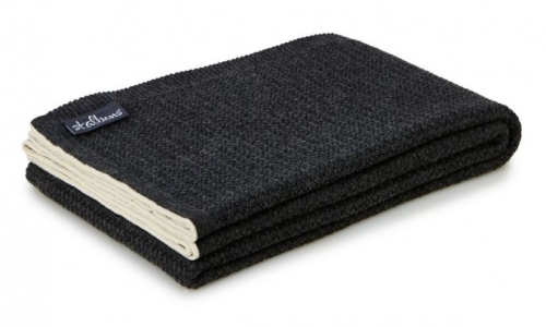 ST Albans Carbon Wool Knit Throw Rug 130X180CM