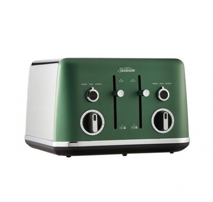 Sunbeam 4 Slice Gallerie Satin Toaster Green Fores