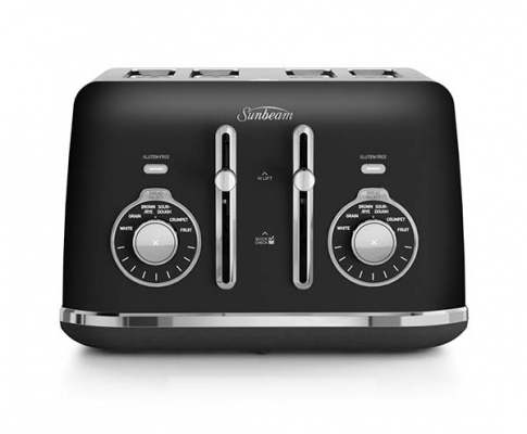 Sunbeam 4 Slice Toaster Alinea Select Black