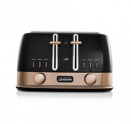Sunbeam New York 4 Slice Toaster - Black Bronze