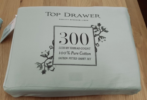 Top Drawer 300Tc Cotton/Sateen Queen Sheet Sage