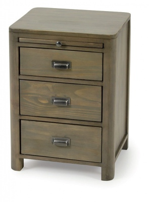 Art Deco Bed Cabinet Distressed Pine 450X400X625H