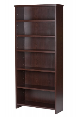 Ultra 6 Shelf Large Bookcase Dark Oak 1800X800X296