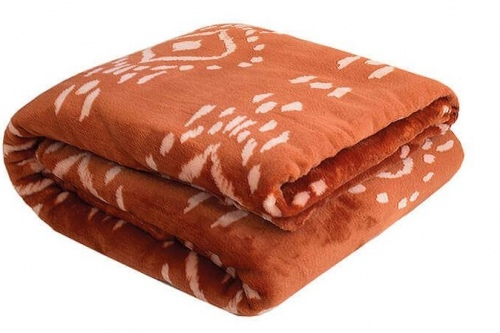 Bambury Zuni Ultra Plush Cayenne Single Blanket