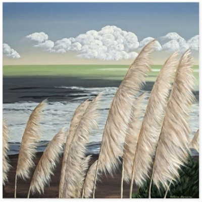 Blowing In The Wind Canvas Print 30X30Cm