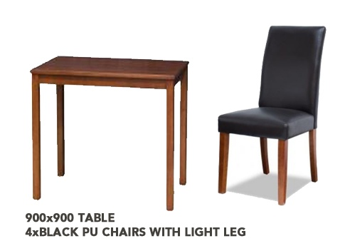 Venice 900 Light Wood Dining Suite + 4 Chairs