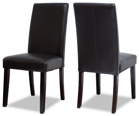 Vienna PU Dark Brown Dining Chair Dark