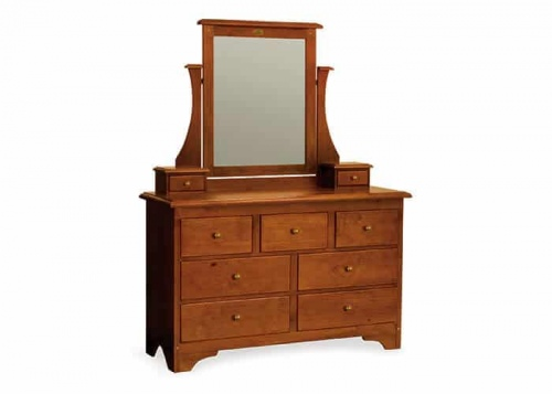 Villager 9Dr Dresser & Mirror Maple 1370X485X1750H
