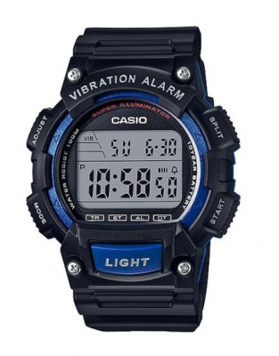 Casio Standard Black Blue Digital Stopwatch