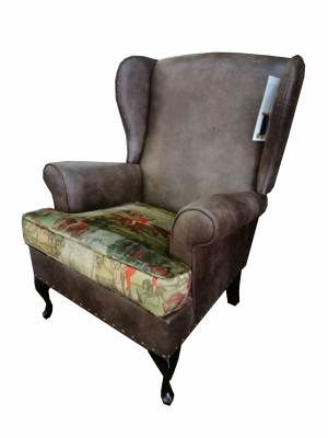 Wing Back Chair Eastwood & Vintage Hunting Nz Made