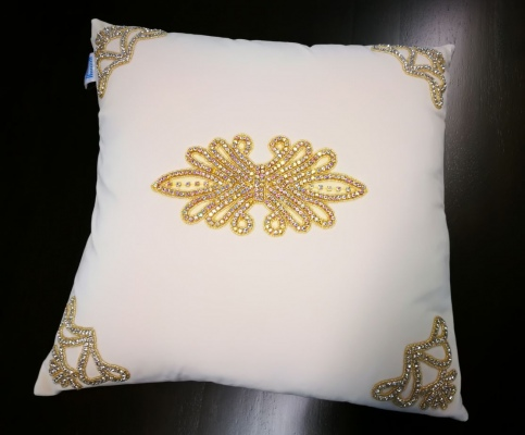 Bella Vista Velvet & Diamond Cushion 45X45Cm
