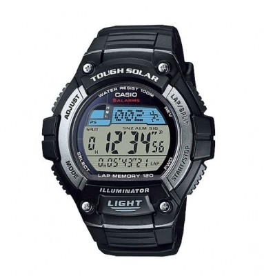 Casio Standard Black Digital Watch Solar Powered