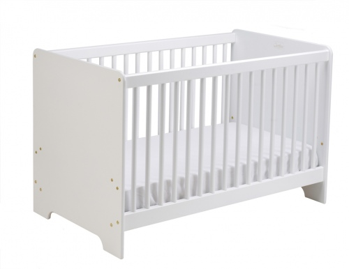 Cariboo Contemporary Cot White/White Nz Made