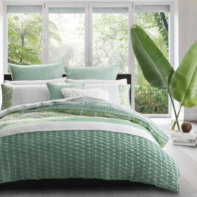 Platinum Willow Green Auz Super King Duvet Cover S