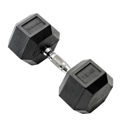 York Hexagonal Rubber Dumbell 22.5KG