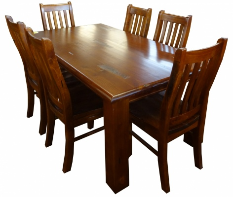 Albury 7Pce Dining Suite Inc 6 Chairs 1800 Table