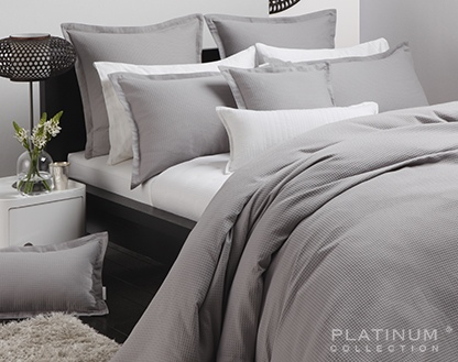 Platinum Ascot Pewter Auz Super King Duvet Cover