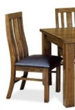 Ashton Dining Chair Walnut Stain Drk Brown Pu Seat