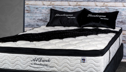 AT Dark King Mattress Only Pocket Coil Teddy Fabri