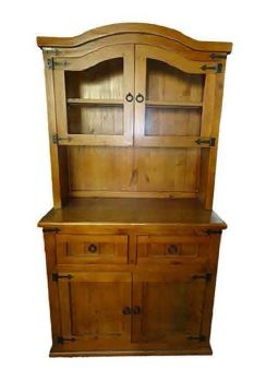 Black Arrow Pine 2DR Buffet Hutch 1000X510X1980MM