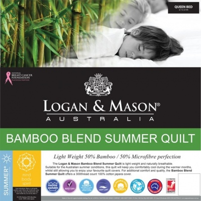 Logan & Mason Bamboo Blend Summer Quilt Single