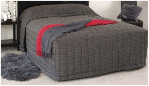 Eden Barbados Charcoal Single Bedspread