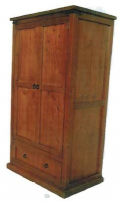 Black Arrow Pine Wardrobe 940X560X1880MM