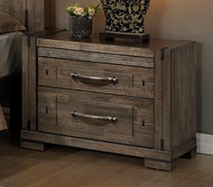 Charlie 2Dr Bed Cabinet Charcoal Wood 400X740X570