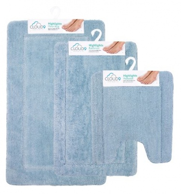 Cloud 9 Highlights Salt Spray 3PC Bathmat Set