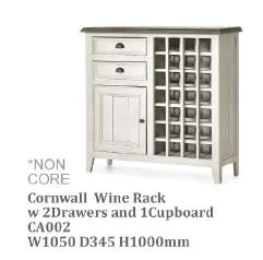 Cornwall Wine Rack Whitewash 1050X345X1000