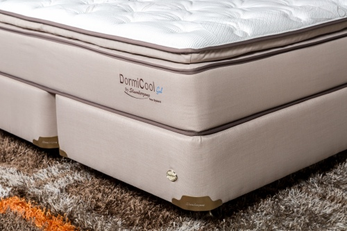Dormicool Double Base Only Brown Fabric