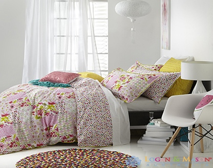 L&M Elsa Pink Queen Duvet Cover Set