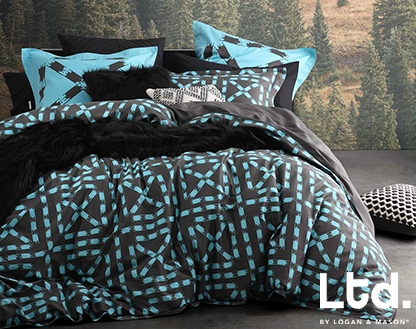 Ltd Equinox Mint Double Duvet Cover Set