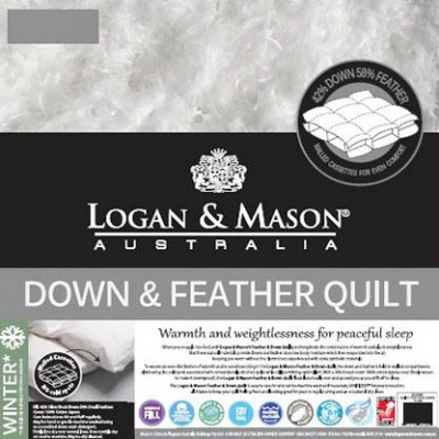 Logan & Mason Down & Feather Quilt 42/58 Super Kin