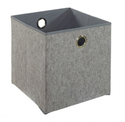 Cubo Storage Box Grey Fabric W350Xd350Xh350