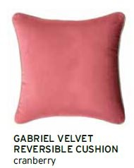 Gabriel Cranberry Velvet Large Cushion 60X60Cm