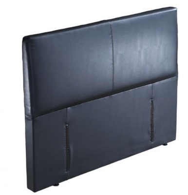 Kelburn Black Pu Upholstered Headboard Super King
