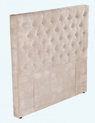 Epsom Beige Velvet Upholstered Headboard King