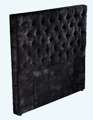 Epsom Black Velvet Upholstered Headboard King
