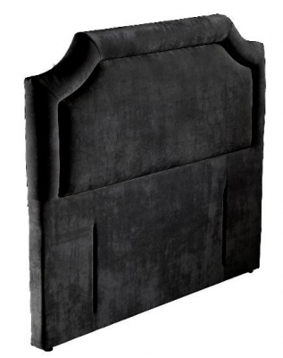 Albany Black Velvet Upholstered Headboard Queen