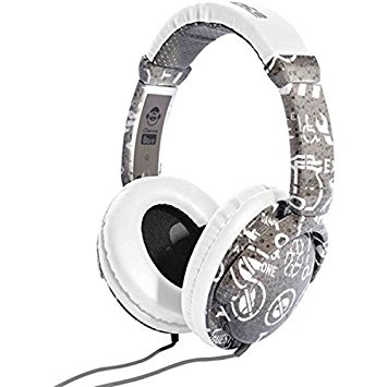 Idance Ibiza Signs Print Earphones Grey/White