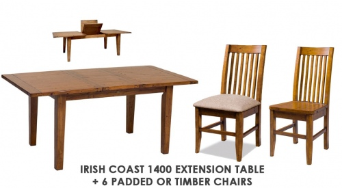 Irish Coast 1400 Ext Table + 6 Dining Chairs