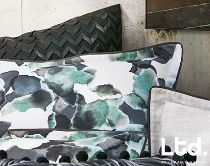 Ltd Fiore Jade Double Duvet Cover Set
