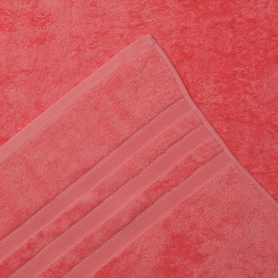 L&M 100% Cotton Low Twist Coral Bath Mat