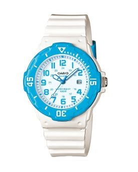 Casio Kids White Blue Analogue Watch