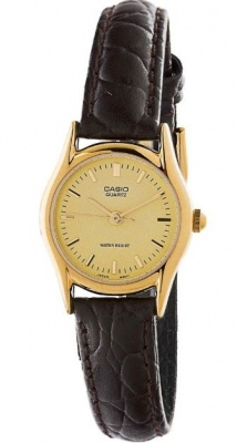 Casio Classic Brown Leather Gold Analogue Watch