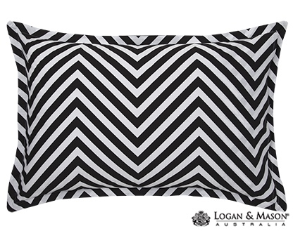 L&M Marley Black Single Duvet Cover Set